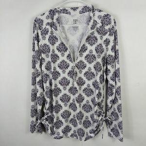 Title Nine Women's XL Sweatshirt Purple White